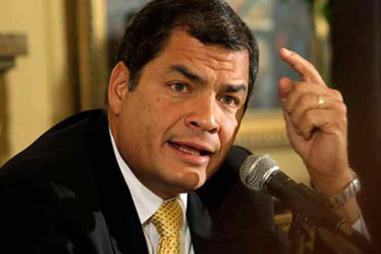 Correa advierte sobre fracasadas acciones del Gobierno deEcuador