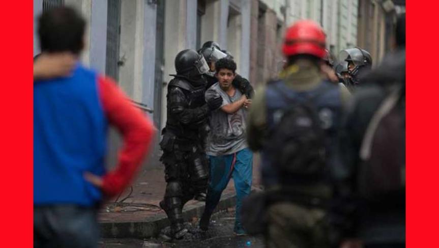Reportan mil 121 detenidos en paros contra plan económico enEcuador