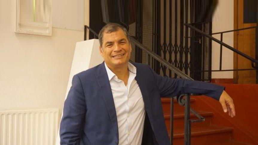 Rafael Correa saluda triunfo electoral en Argentina yColombia