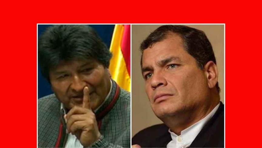 Rafael Correa expresa solidaridad con Bolivia y EvoMorales