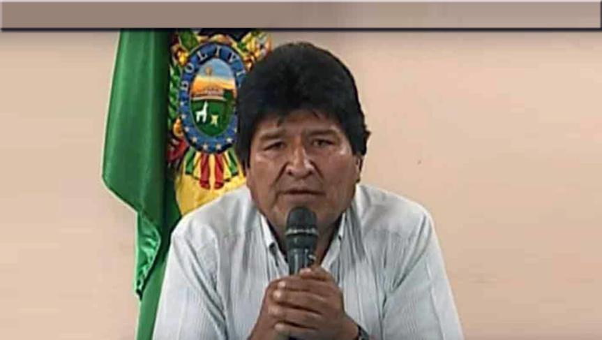Avión mexicano llega a Bolivia para trasladar a presidenteMorales