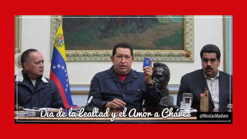 Maduro conmemora último mensaje de Hugo Chávez aVenezuela