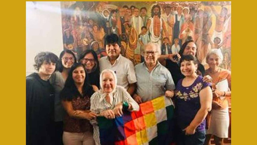 Evo Morales agradece apoyo de Adolfo PérezEsquivel