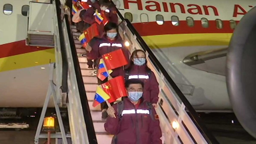 Primera misión médica de China en América Latina y el Caribe llega a Venezuela para fortalecer lucha contra elCovid-19