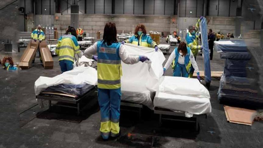 España registra dos mil 696 muertes y 39 mil contagios porCovid-19