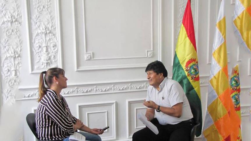 Evo Morales, siempre estuvimos con laverdad