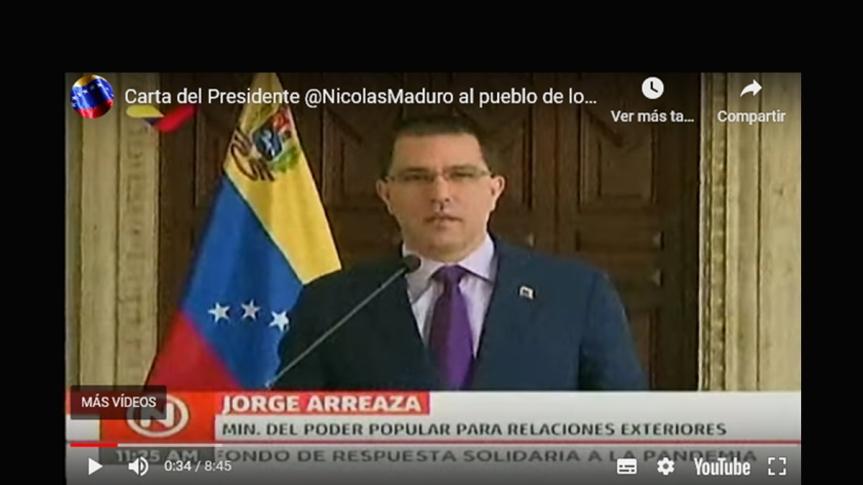 Carta del Pdte. Nicolás Maduro al pueblo de los Estados Unidos|Video