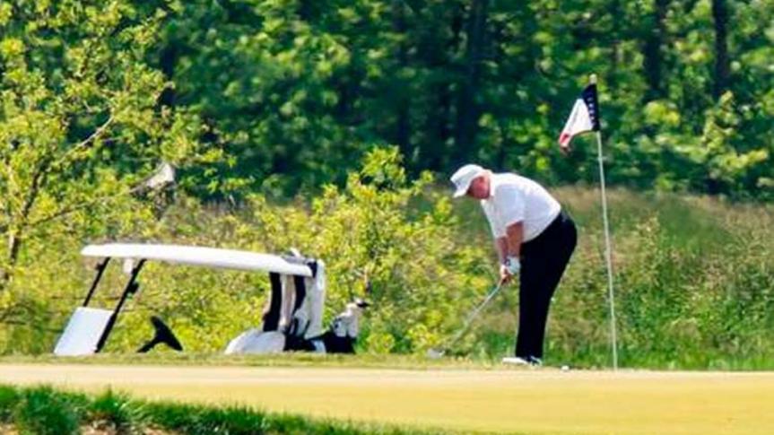 Biden critica a Trump por jugar golf en medio de lapandemia