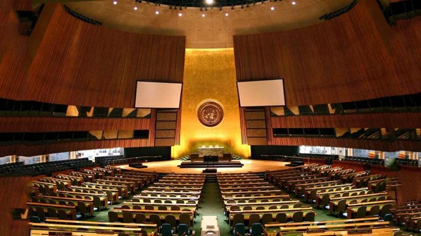 Elecciones en Asamblea General de ONU, un reto en medio depandemia