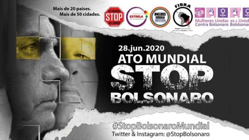 Movilización contra Bolsonaro este domingo en veintena depaíses