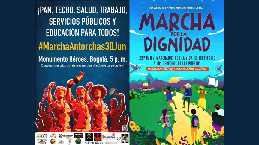 Protesta popular en Colombia contra el abandono gubernamental ganaterreno