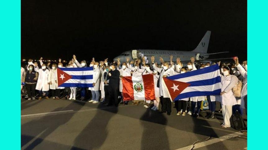 Médicos cubanos viajan a regiones de Perú afectadas porCovid-19