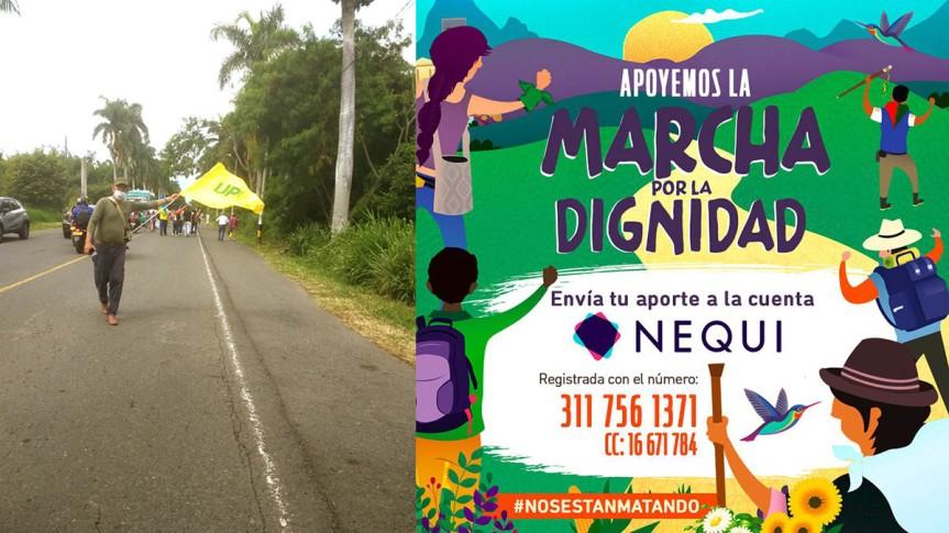 Llamado a la solidaridad con la Marcha por la Dignidad del Cauca aBogotá.