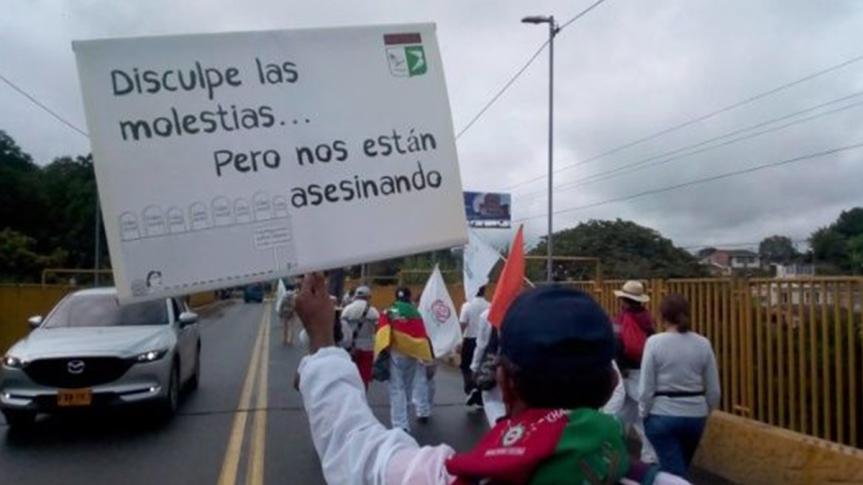 La Marcha por la Dignidad llegó a Ibagué y se apresta a continuar su recorrido hastaBogotá