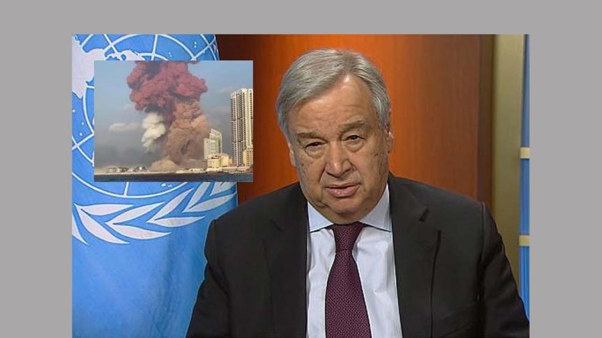 ONU reitera apoya al Líbano tras violentasexplosiones