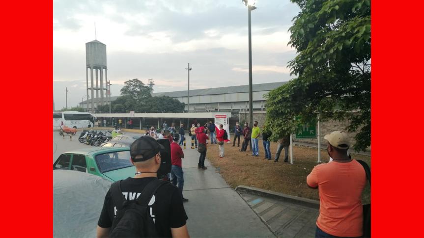 En Yumbo, Valle del Cauca, trabajadores realizan jornada contra el terrorismo del Estadocolombiano