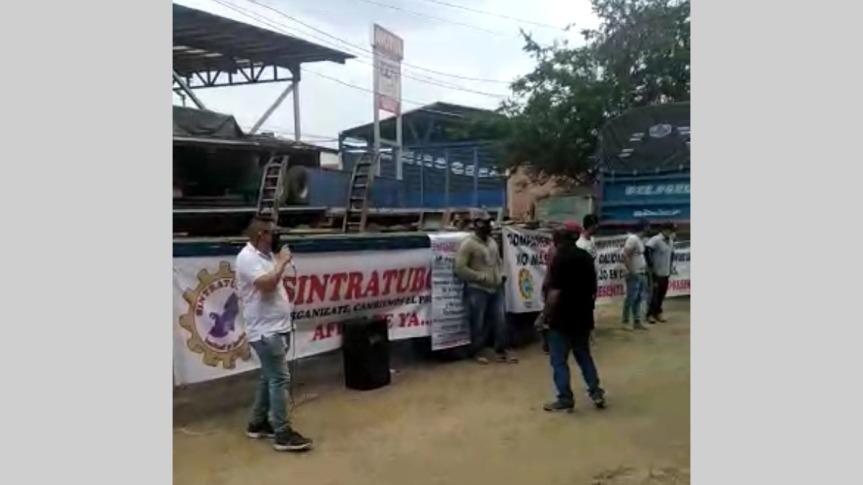 Protestan trabajadores de empresa Tubosa en Yumbo, Valle delCauca