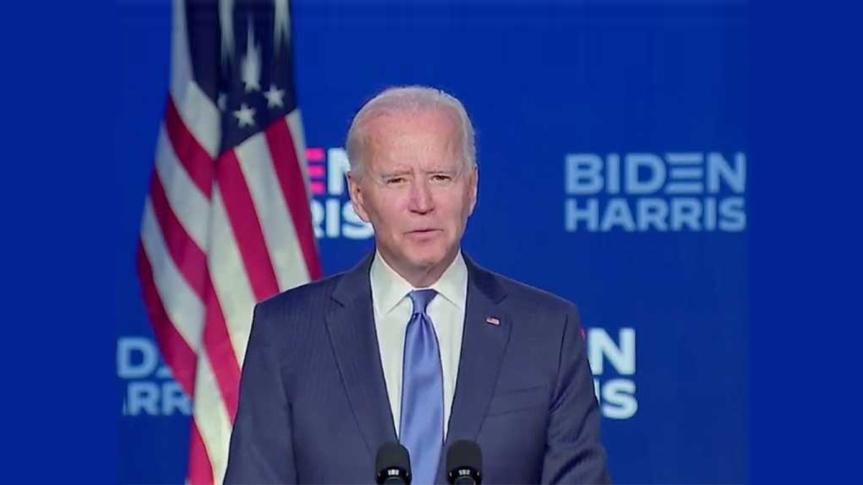 Biden promete trabajar por la unión deEE.UU.