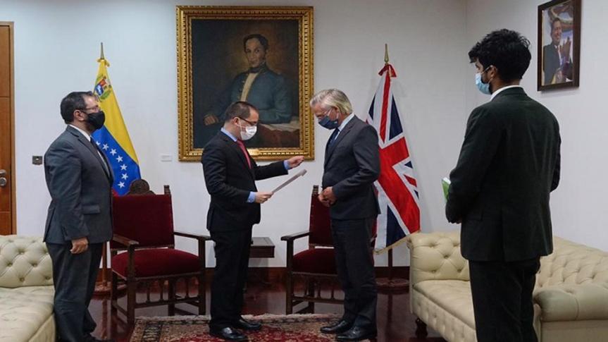 Venezuela entrega Nota de Protesta a embajador de Reino Unido en repudio a sistemática injerencia contra laRepública